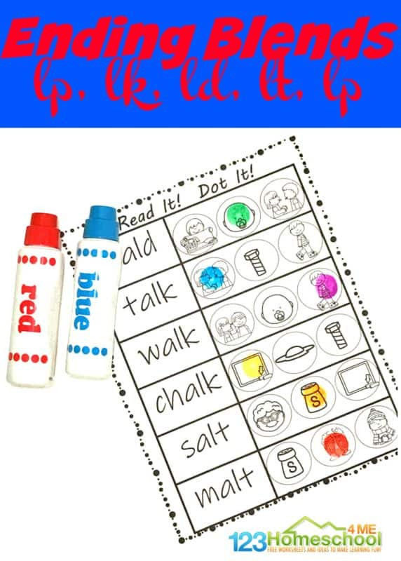 Free Printable Blends Worksheets Free Ending Blends Worksheets
