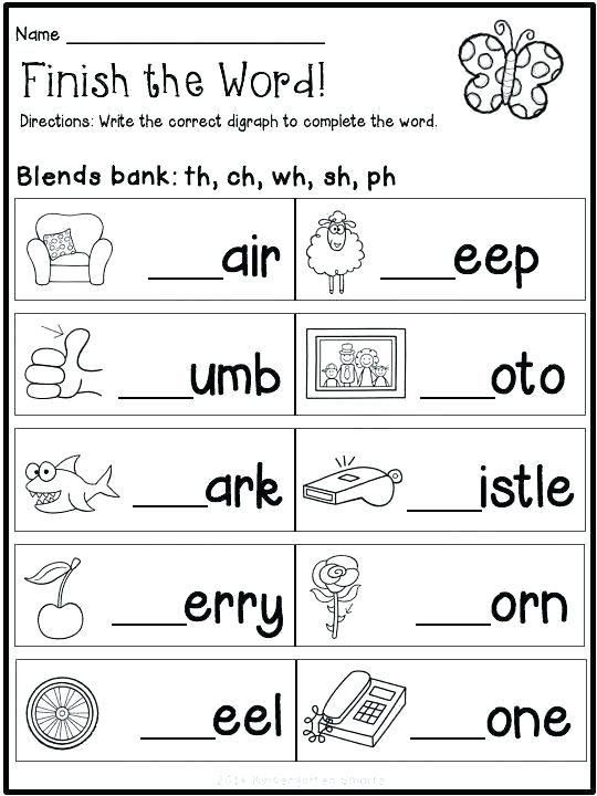 Free Printable Blends Worksheets Reading Blends Worksheets for Kindergarten Free Pdf