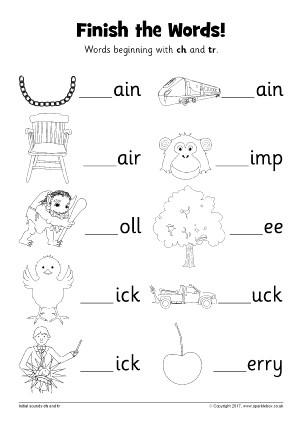 Free Printable Ch Worksheets Words with Ch Phonics Activities and Printable Teaching