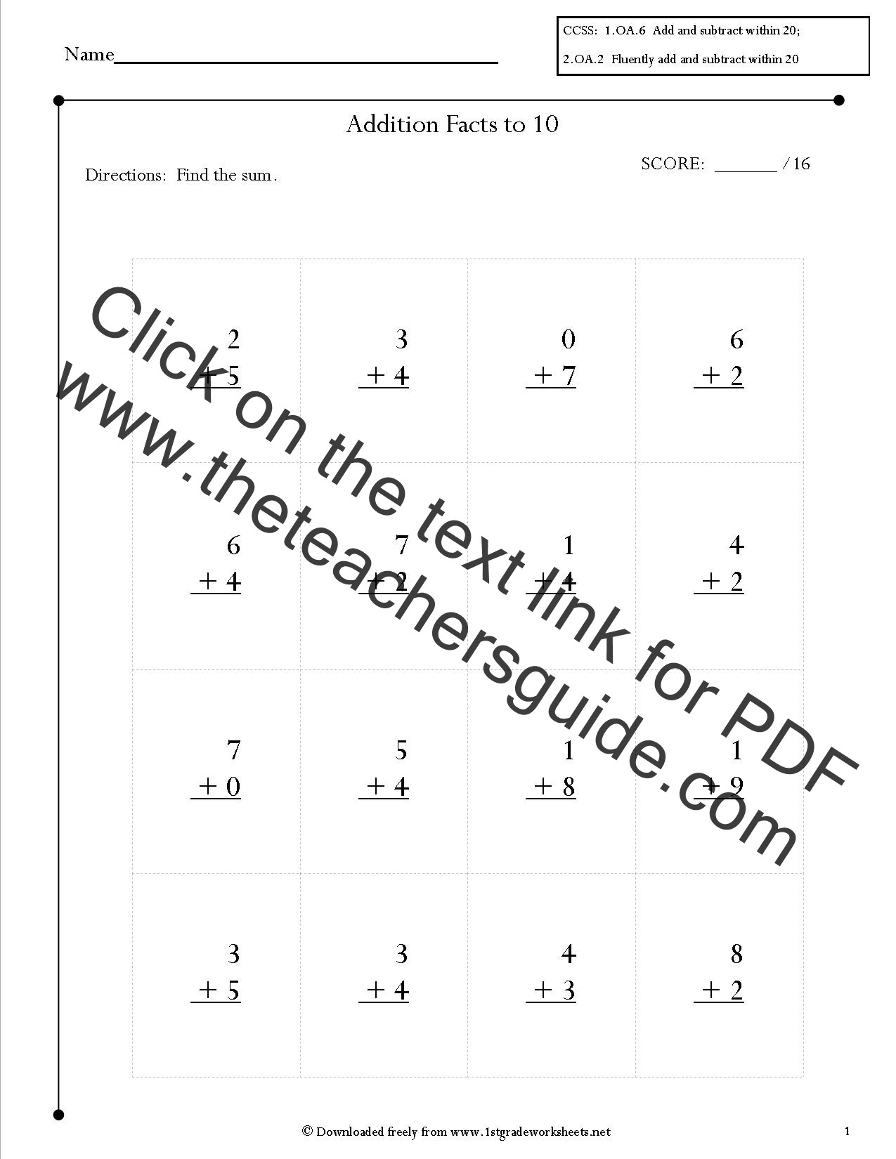 Free Printable Common Core Worksheets 2nd Grade Math Mon Core State Standards Worksheets