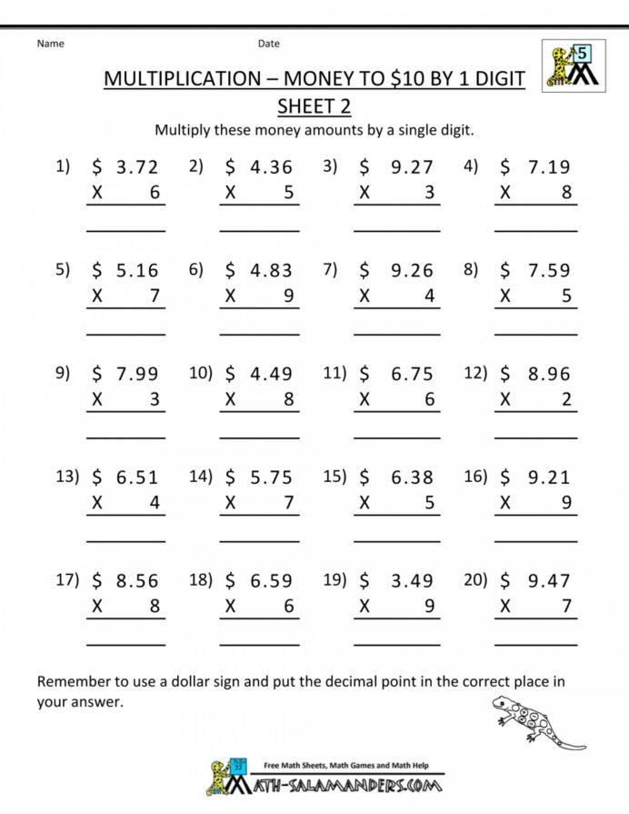 Free Printable Common Core Worksheets 4th Grade Math Mon Core Worksheet Printable Worksheets and