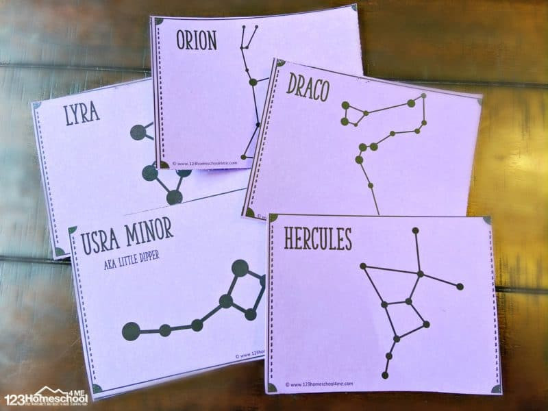 Free Printable Constellation Worksheets Free Constellation Flashcards