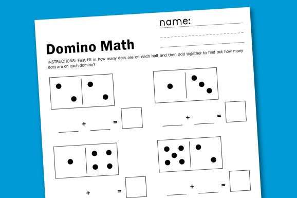 Free Printable Domino Math Worksheets Domino Addition Paging Supermom