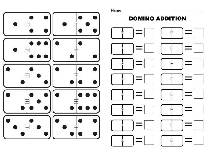 Free Printable Domino Math Worksheets Domino Doubles Addition to Worksheet Teacher Made Free