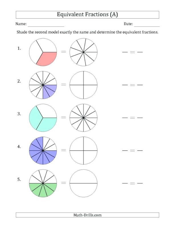 fractions practice math equivalent grade adding subtracting 615x796