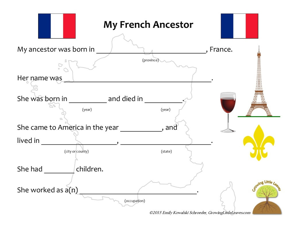 Free Printable French Worksheets Family Worksheet In French