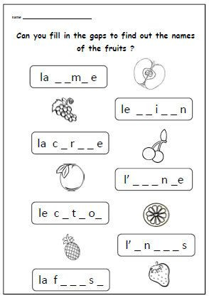 Free Printable French Worksheets Free Printable French Grammar Worksheets