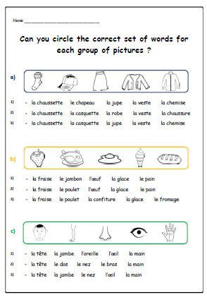 Free Printable French Worksheets French Learning French Worksheet Printable for Children