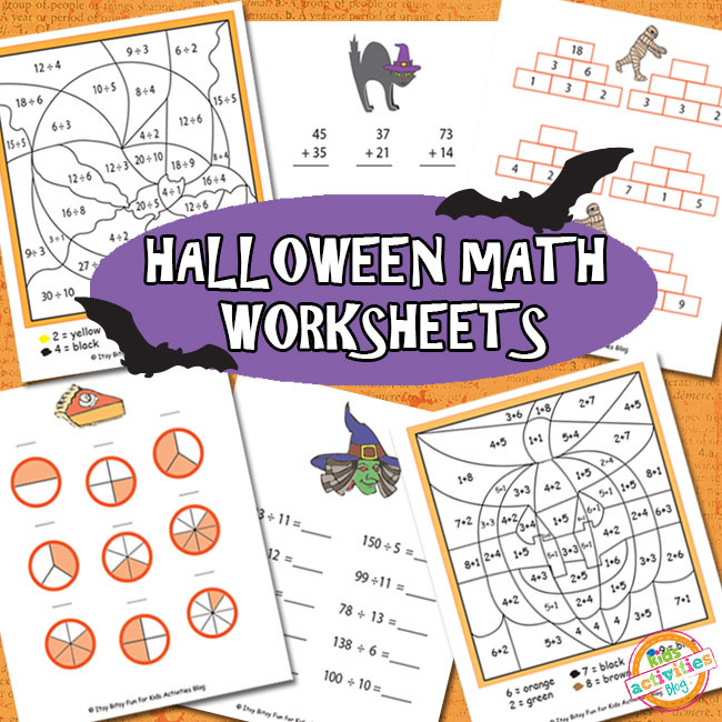 Free Printable Halloween Maths Worksheets Halloween Math Worksheets Free Kids Printable