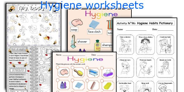 Free Printable Hygiene Worksheets Hygiene Worksheets
