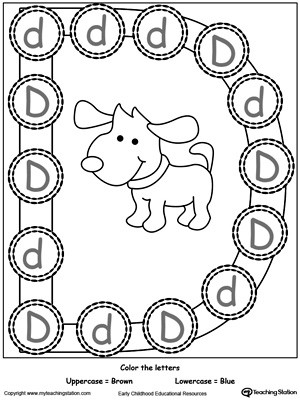 Free Printable Letter D Worksheets Recognize Uppercase and Lowercase Letter D