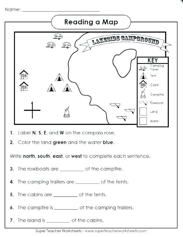 Free Printable Map Worksheets Free Map Skills Worksheets Map Skills Worksheets Map Skills