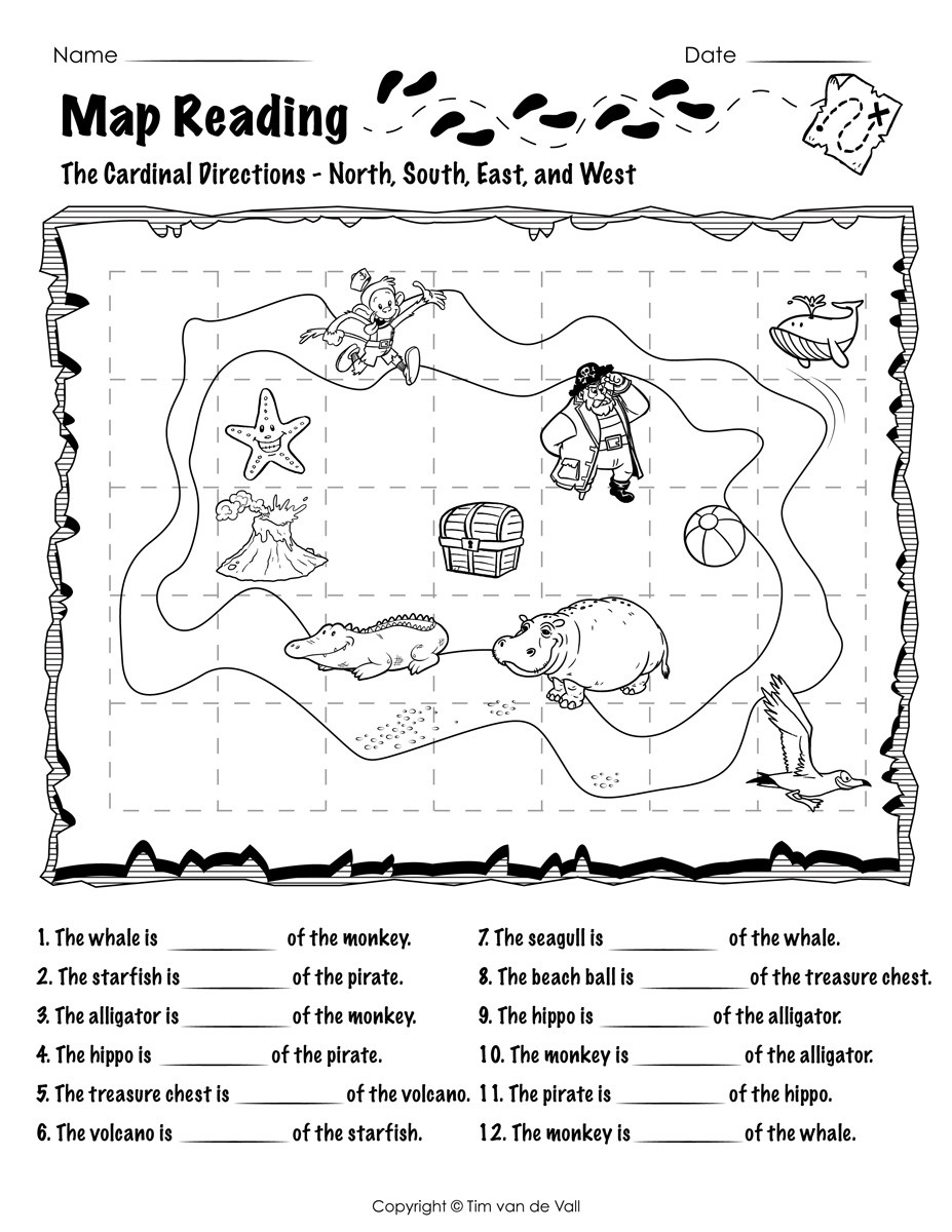 Free Printable Map Worksheets Free Printable Map Reading Worksheets Tim S Printables