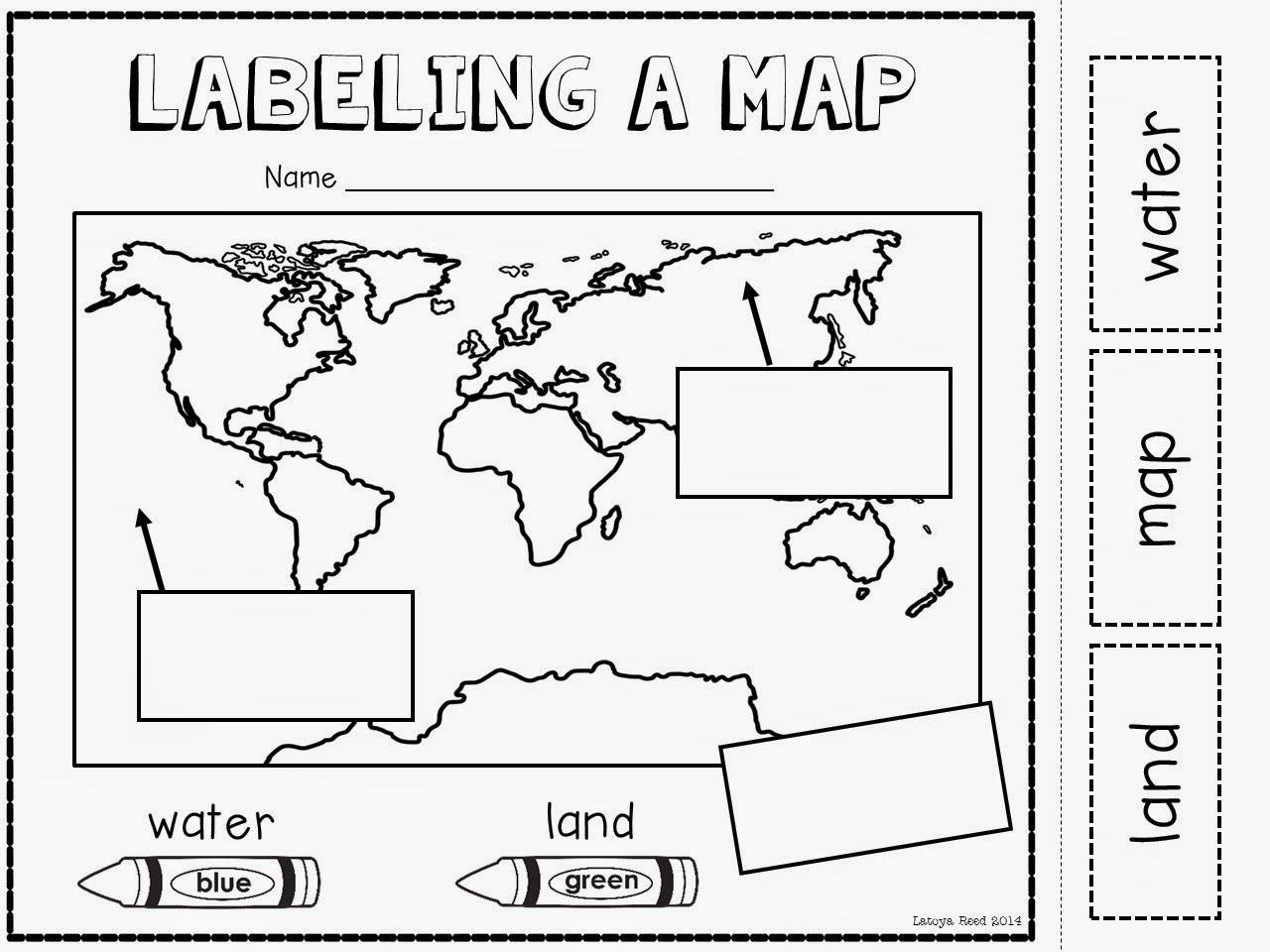 Free Printable Map Worksheets Maps Globes and Our World Plus A Freebie