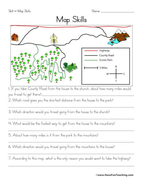 Free Printable Map Worksheets Maps Worksheets • Have Fun Teaching