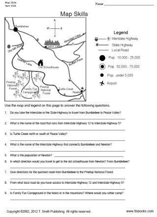 Free Printable Map Worksheets Tlsbooks Free Worksheets Map Skills Worksheet