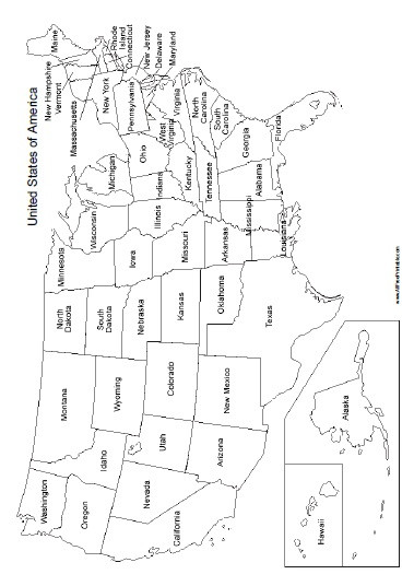 Free Printable Map Worksheets United States Map with States Names Free Printable