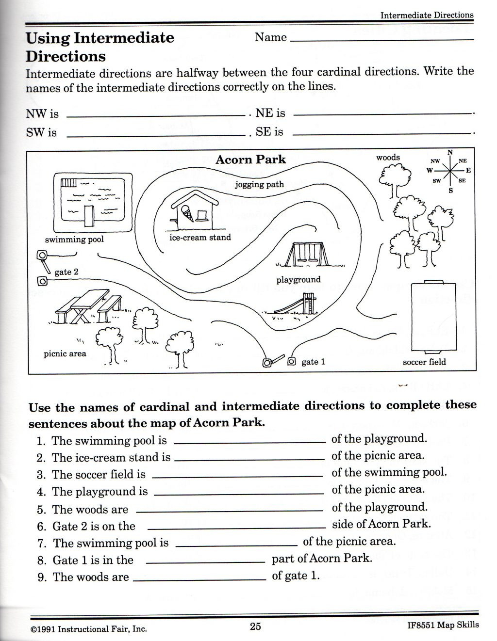 Free Printable Map Worksheets Worksheet Free Worksheets to Print Map Skills for Science