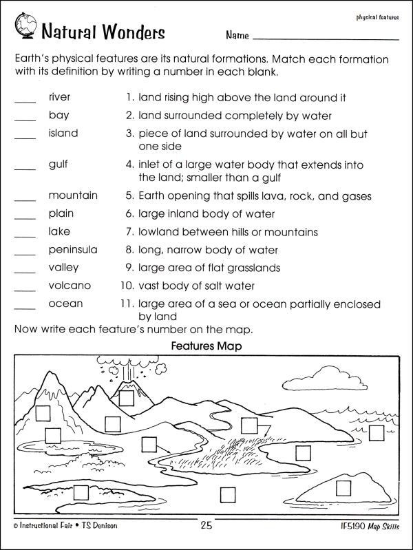 Free Printable Map Worksheets Worksheet Map Skills Worksheets 3rd Grade Free Map Skills