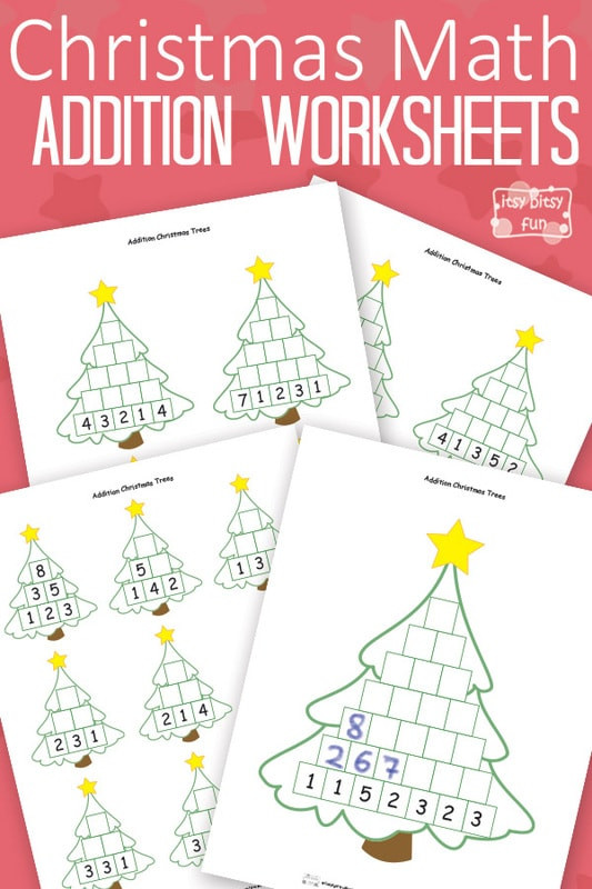 Free Printable Math Christmas Worksheets Christmas Math Worksheets Addition Tree Itsybitsyfun