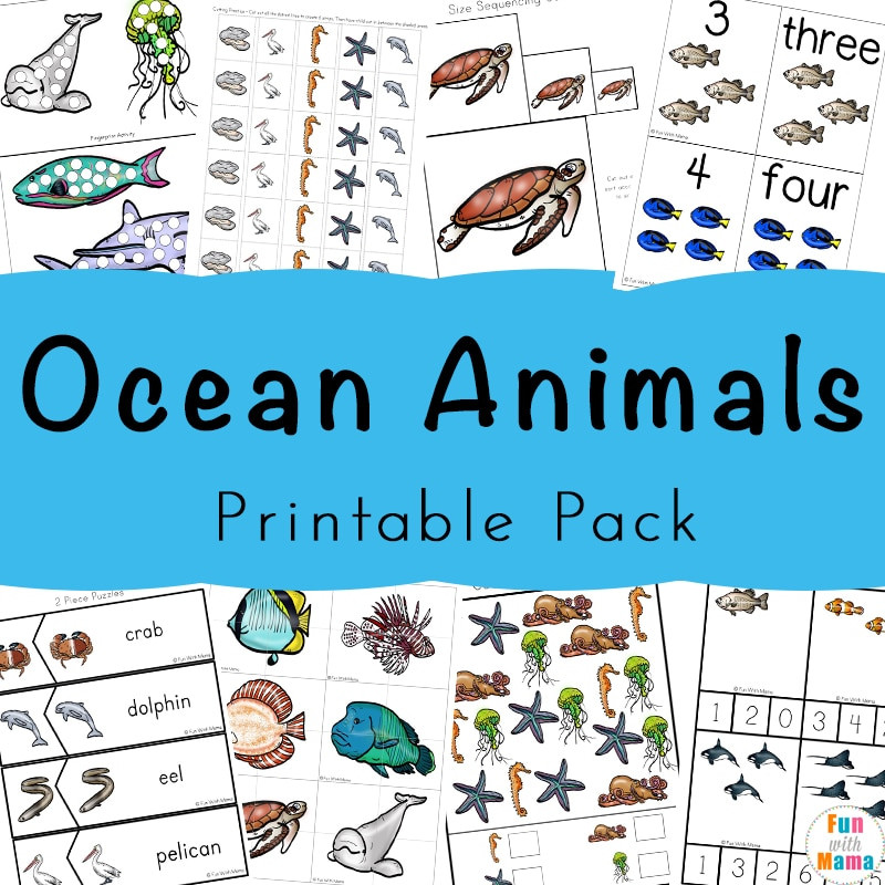 Free Printable Ocean Worksheets A Super Fun Ocean Animals Printable Pack for Kids