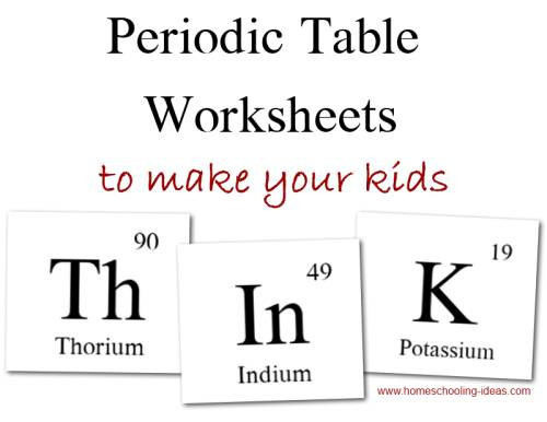 Free Printable Periodic Table Worksheets Periodic Table Worksheets