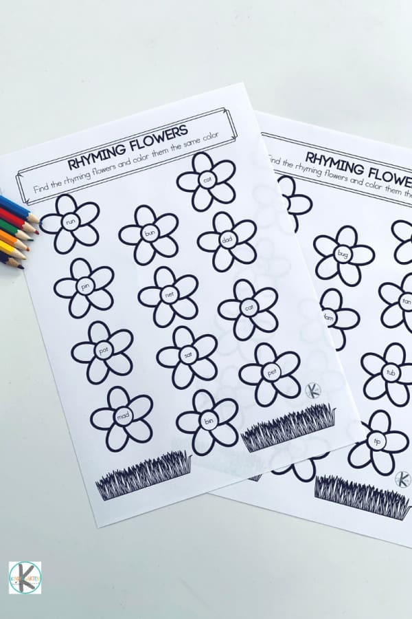 Free Printable Rhyming Worksheets Free Rhyming Flowers Worksheet