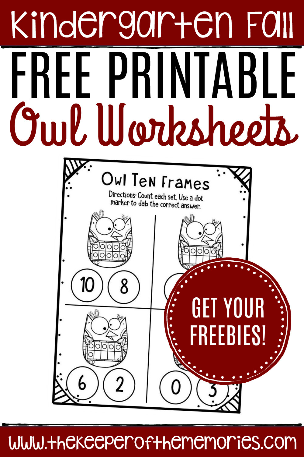 Free Printable Ten Frame Worksheets Free Printable Owl Ten Frame Worksheets