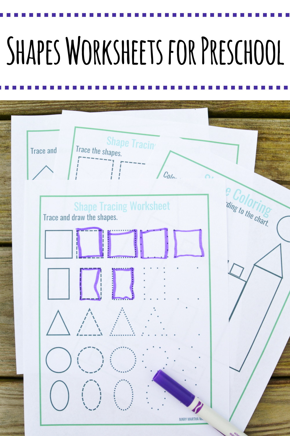 Free Printable Tracing Shapes Worksheets Shapes Worksheets for Preschool [free Printables] – Mary
