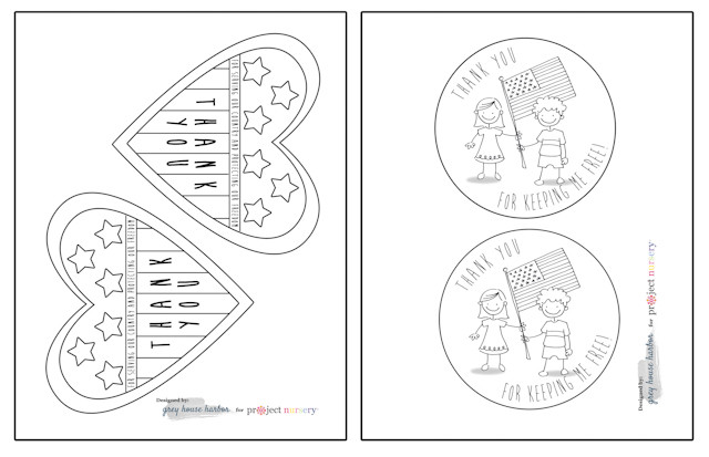 Free Printable Veterans Day Worksheets Veterans Day Cards for Kids to Color Project Nursery