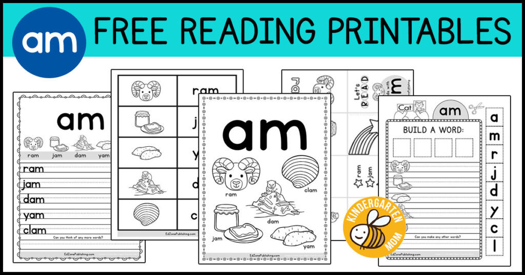 Free Printable Vowel Worksheets Am Word Family Worksheets Kindergarten Mom