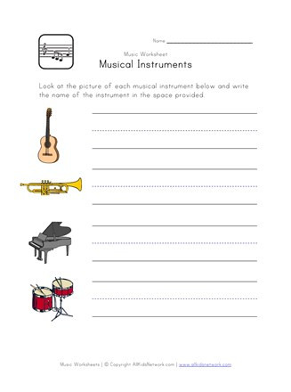 Free Printable Weather Instruments Worksheets Musical Instruments Worksheet