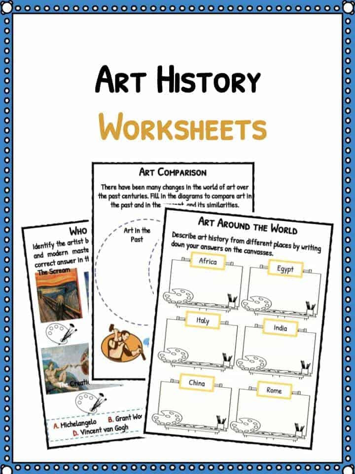 Free Printable World History Worksheets Art History Facts & Worksheets for Kids