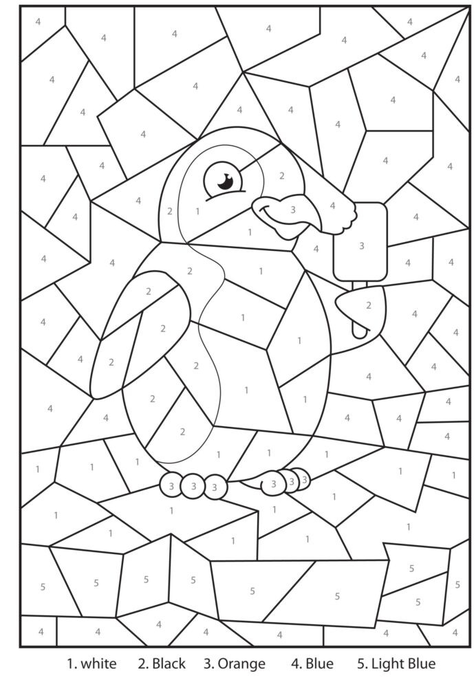 Fun Multiplication Worksheets Grade 4 Coloring Free Printable Penguin at the Zoo Colour by Free