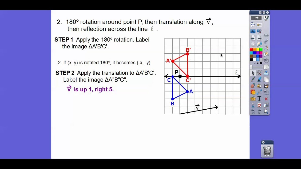 Geometry Multiple Transformations Worksheet Sequences Of Transformations Module 18 1