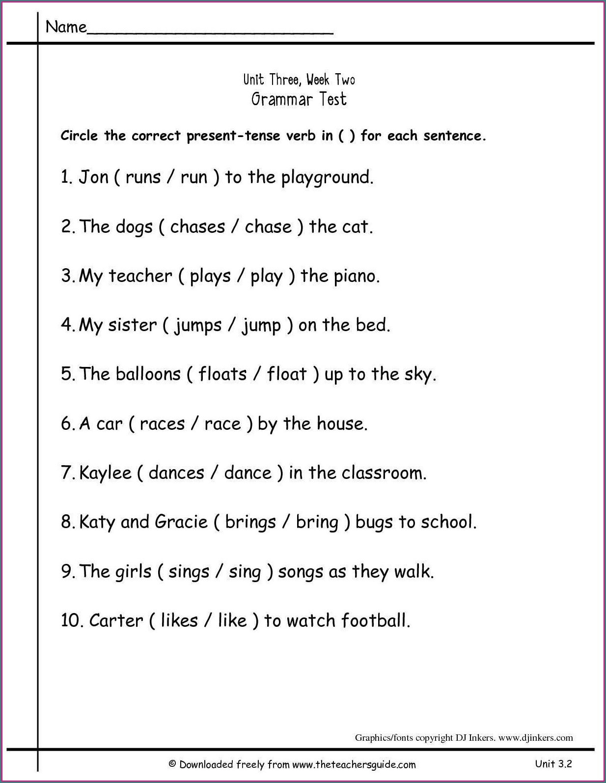 Grammar Worksheets 2nd Grade Printable Math Worksheet 2nd Grade Grammarets Second Printable Free