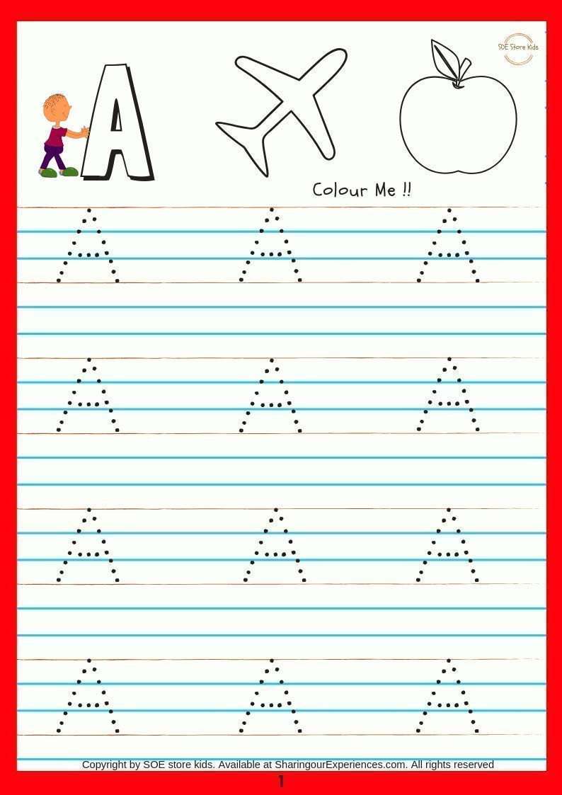 soe store kids alphabets writing activity book 44 pages write 4