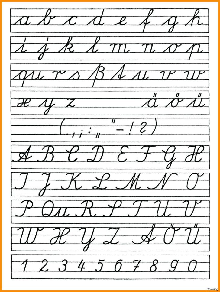 printable cursive letters coloring pages handwriting font fonts uppercase reason for alphabet 728x966