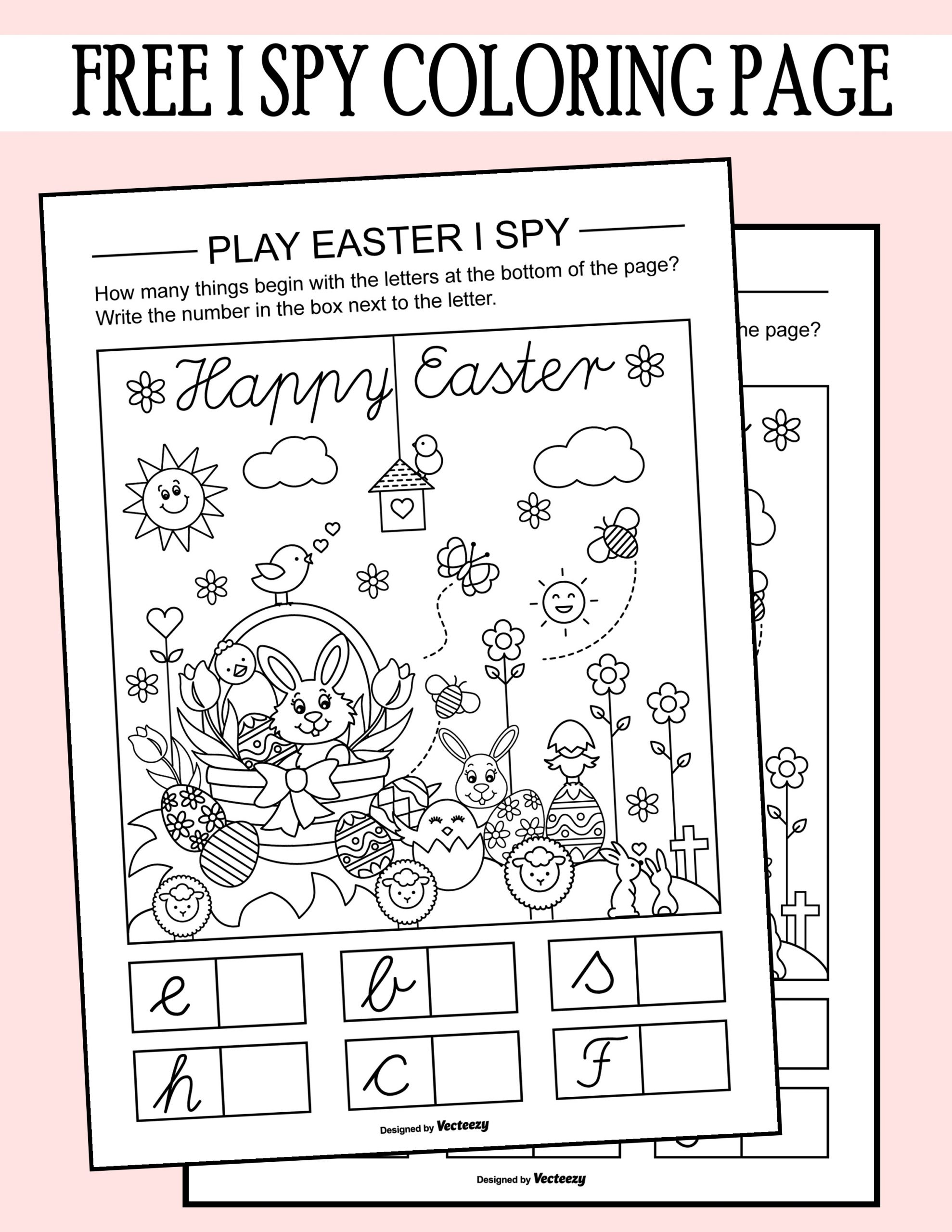 I Spy Printables Worksheets Easter I Spy Coloring Page Printable Worksheet Printables
