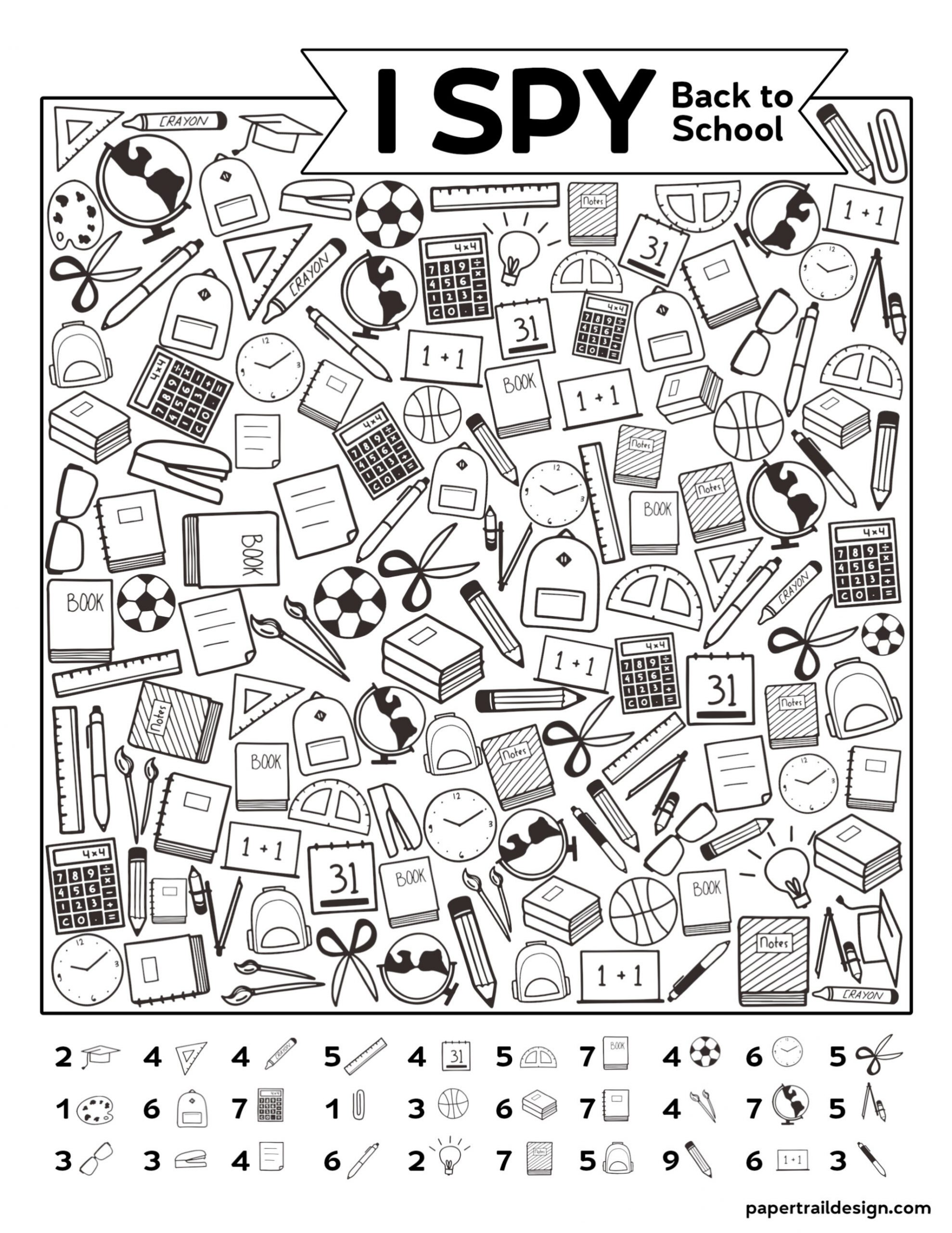 I Spy Printables Worksheets Free Printable I Spy Back to School Activity