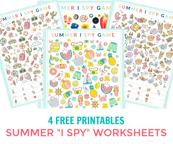 I Spy Printables Worksheets Summer I Spy Printable Game Sheets 4 Free Printable
