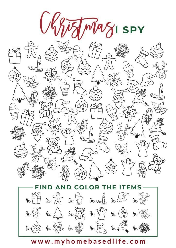 I Spy Printables Worksheets Worksheet I Spy Christmas Printable My Home Based Life Fun