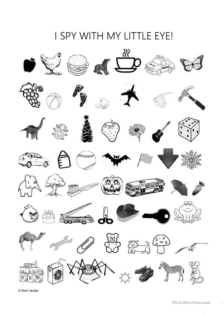 I Spy Printables Worksheets Worksheet I Spy with My Little Eye English Esl Worksheets
