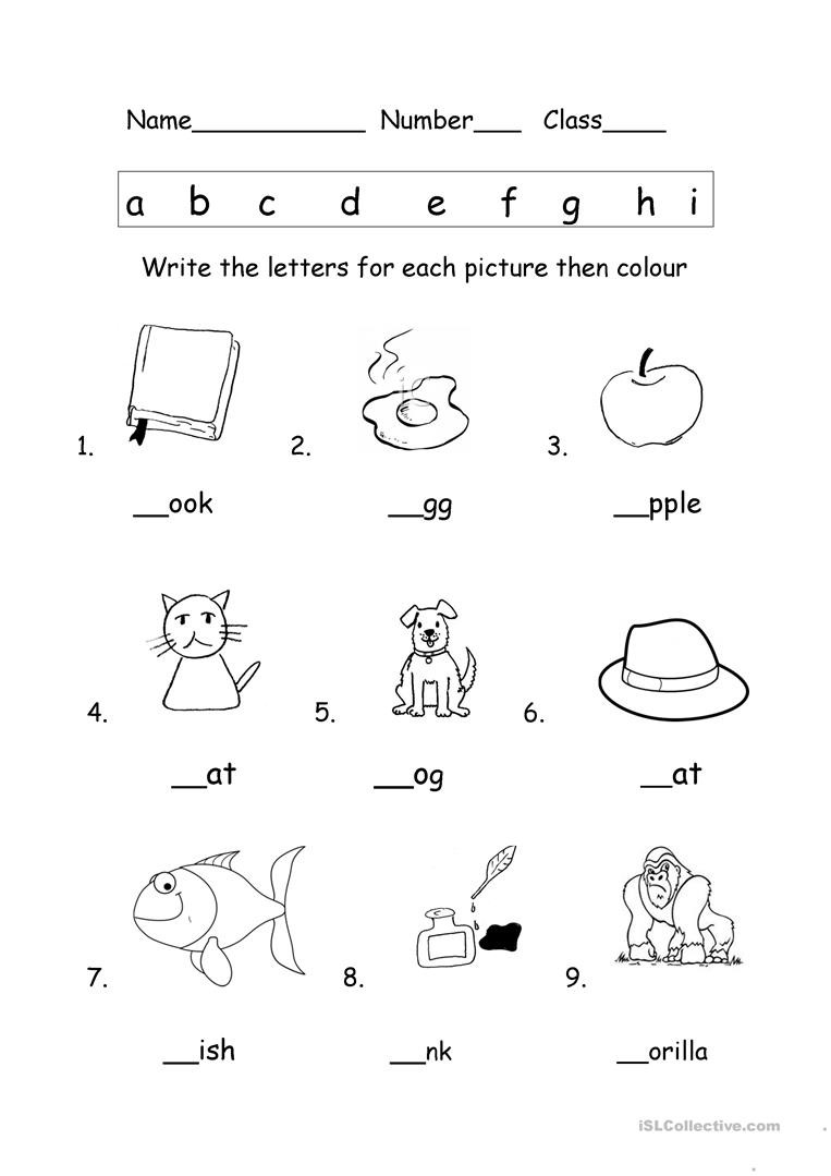 Initial Letter sound Worksheet Worksheet Initial Letter sounds Worksheets Simple Math for
