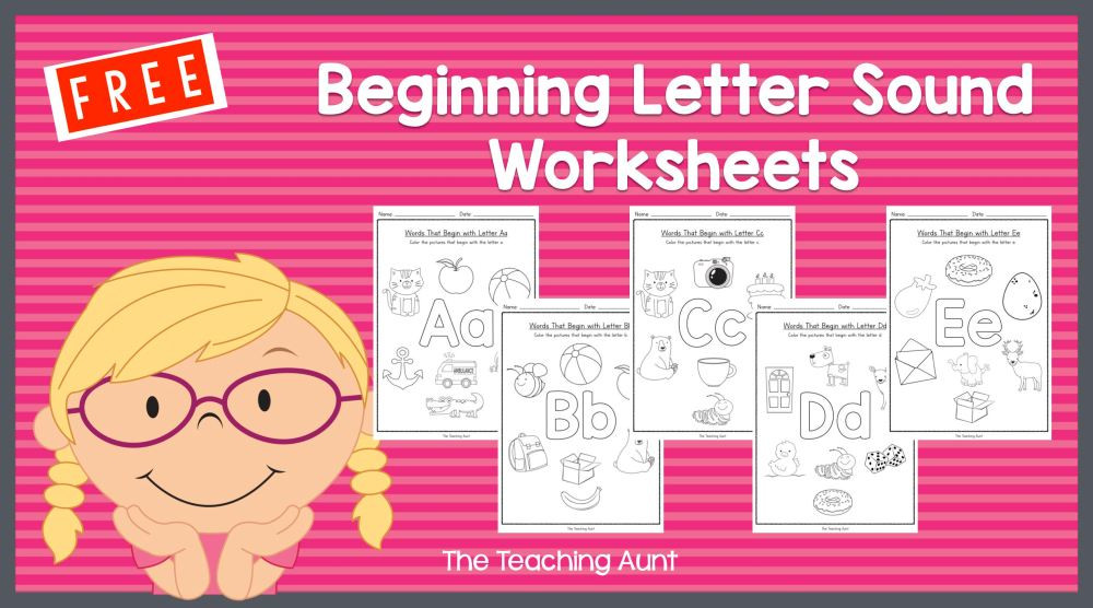 Initial Letter sound Worksheets Free Beginning Letter sounds Worksheets the Teaching Aunt