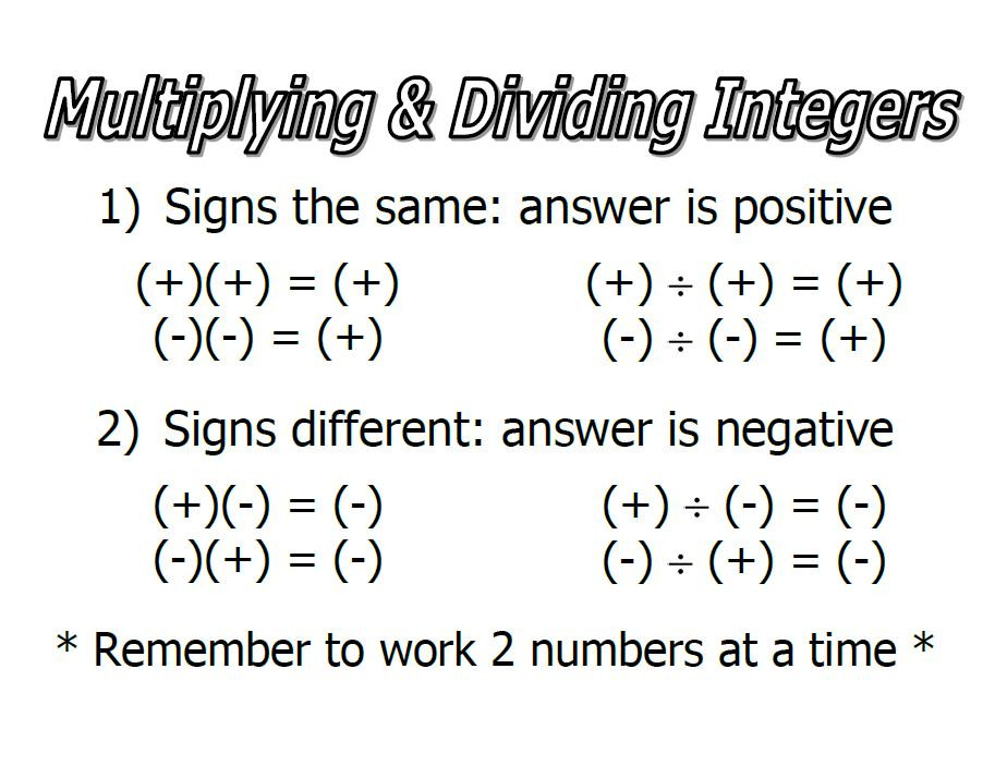 Integers Worksheet Multiplying and Dividing Multiplying and Dividing Integers Lessons Tes Teach