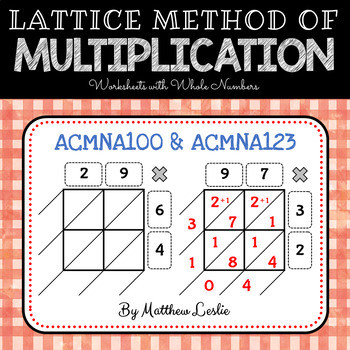 Lattice Method Multiplication Worksheet Lattice Method Of Multiplication Worksheets with whole Numbers