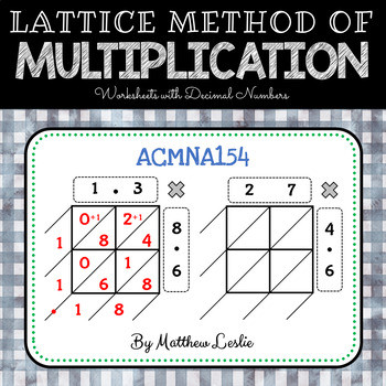 Lattice Method Multiplication Worksheets Lattice Method Of Multiplication Worksheets with Decimal Numbers