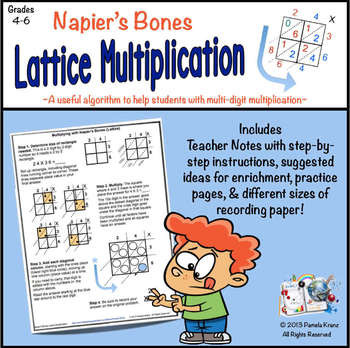 Search lattice multiplication worksheets