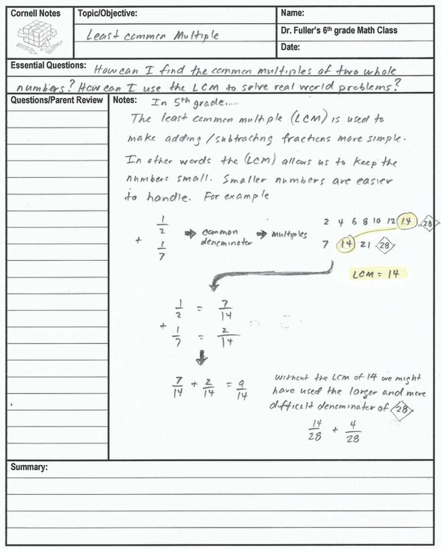 Least Common Multiple Fractions Worksheet 6th Grade Concept 7 Least Mon Multiple Home Of the
